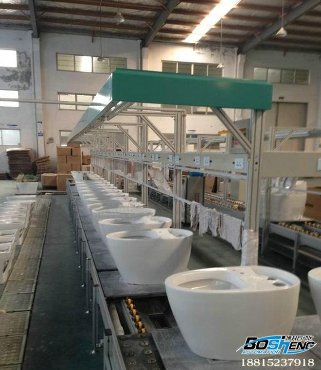 马桶装配生产线