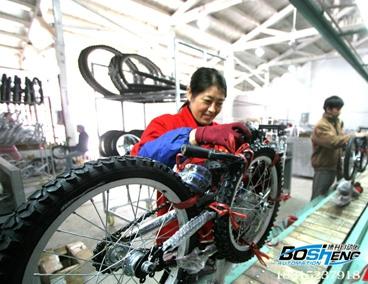 自行车装配流水线
